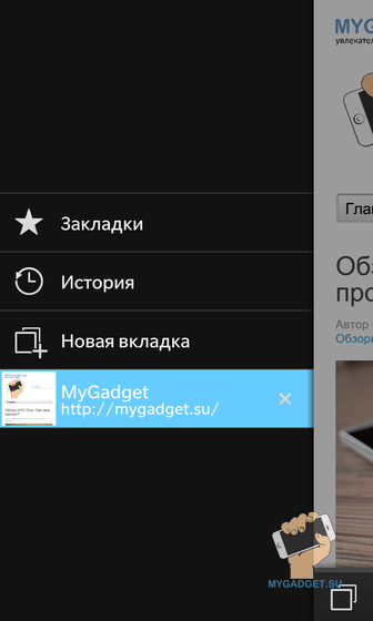 Приложение Браузер Blackberry10