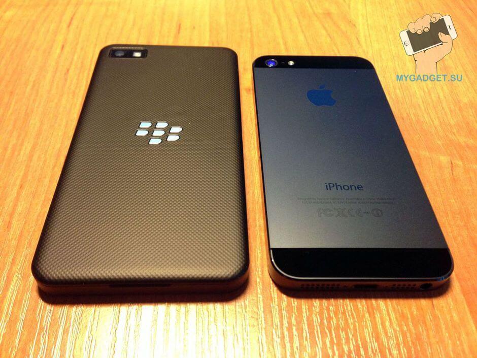 сравнение Blackberry Z10 с iPhone 5