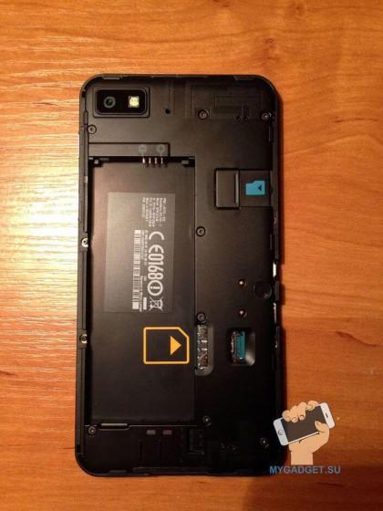 отсек для аккумулятора Blackberry Z10
