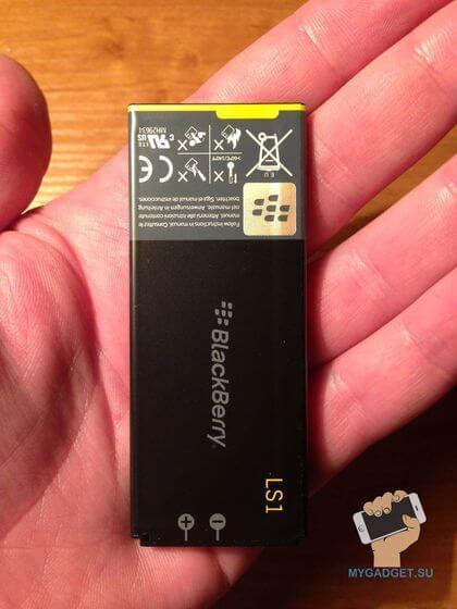 Аккумулятор и время работы Blackberry Z10
