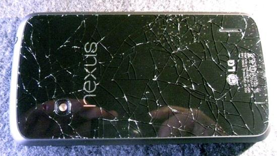 nexus 4 разбито стекло