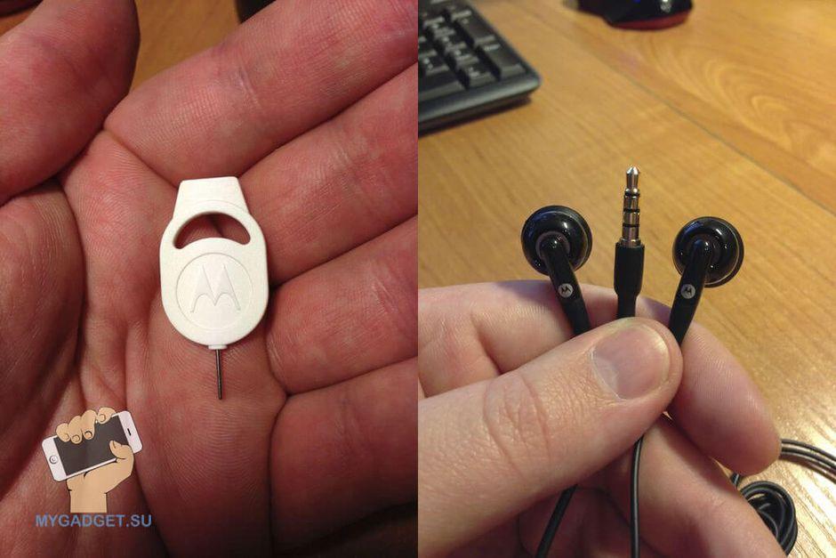 мото-скрепка и гарнитура Motorola EH25