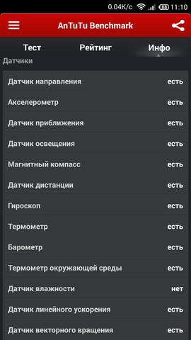 xiaomi Mi3 датчики