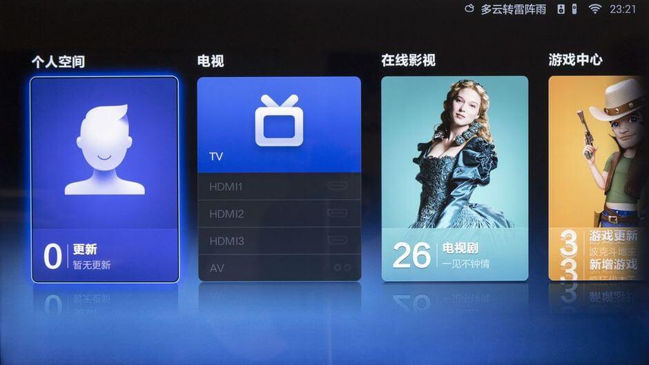 рабочий стол Xiaomi Mi TV 2 - 1