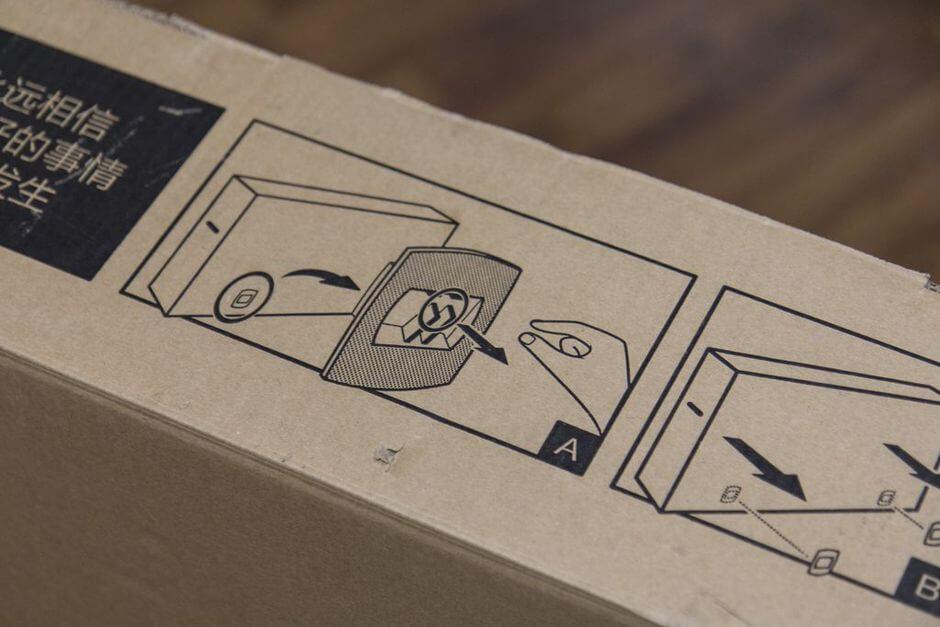 как открыть коробку Xiaomi Mi TV 2