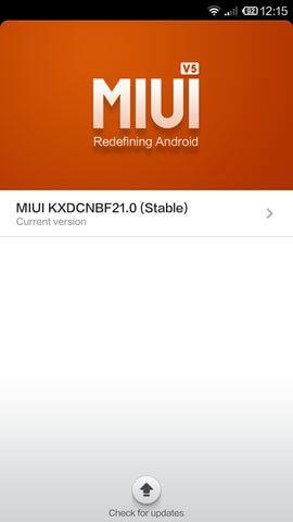 MIUI v5 в Xiaomi Mi4