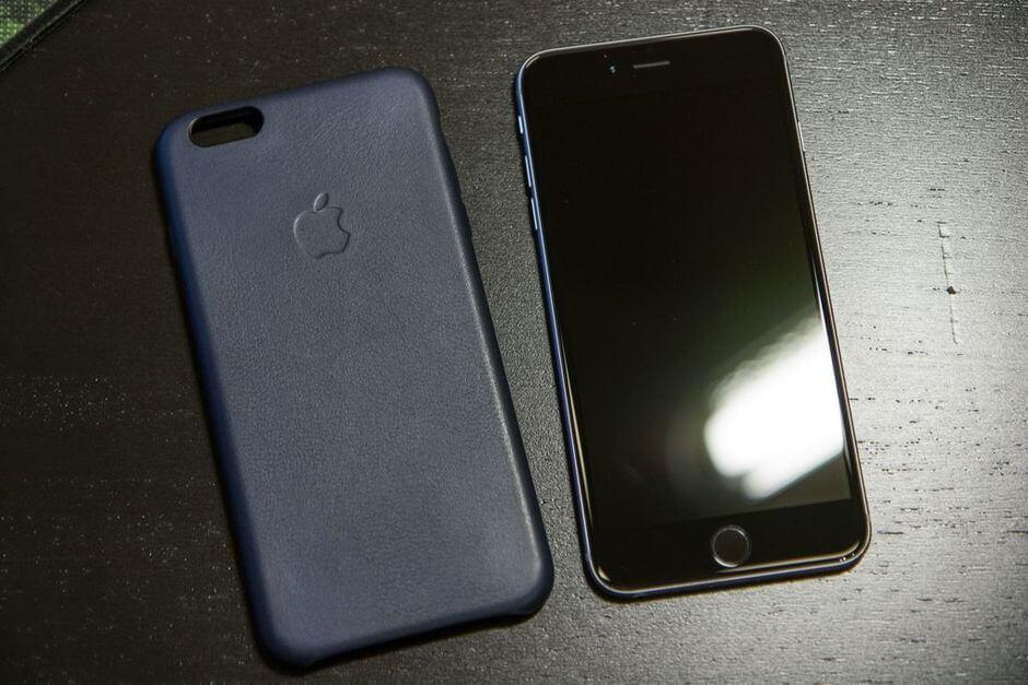 кожаный оригинальный клипкейс для Apple iPhone 6 Plus