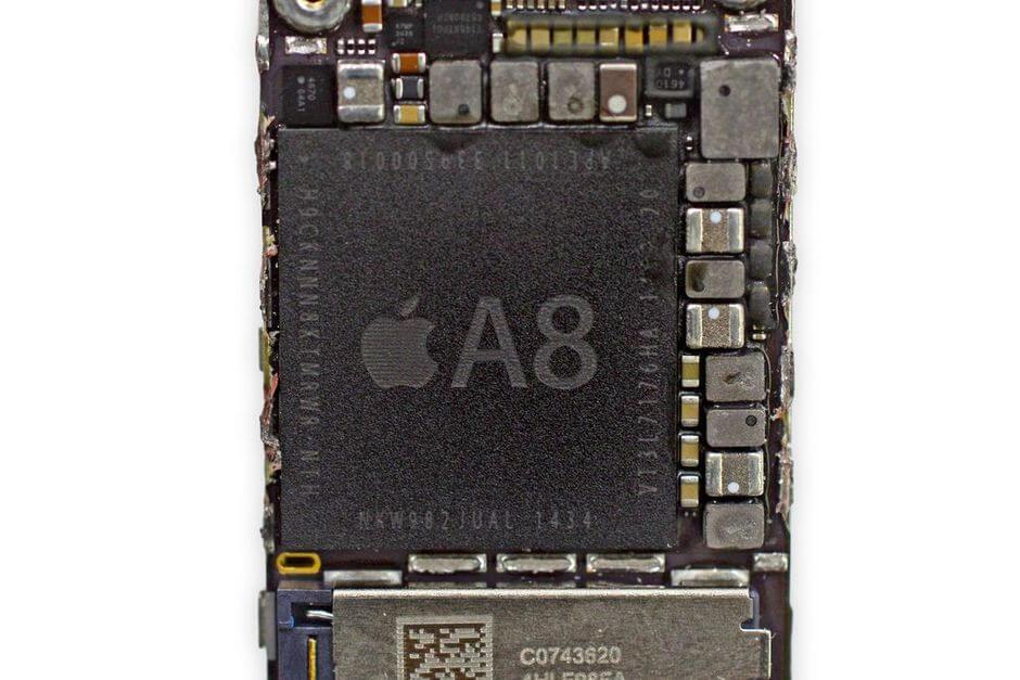 система-на-чипе Apple A8 (взято с ifixit.com)