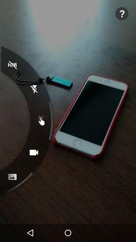 интерфейс приложения Камера в Motorola Moto X 2nd gen.