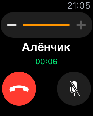 приложение телефон в Apple Watch Sport