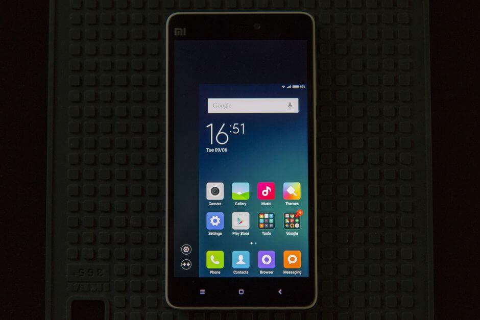 функция управление смартфоном одной рукой в Xiaomi Mi4i