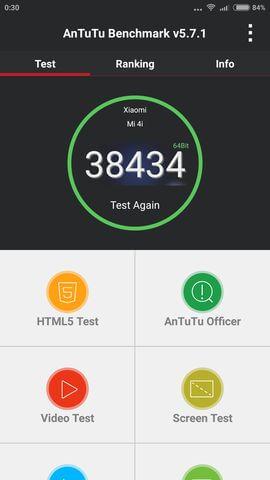 результаты теста AnTuTu для Xiaomi Mi4i