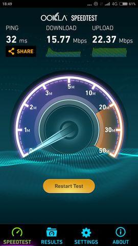 результаты Speedtest для Xiaomi Mi4i