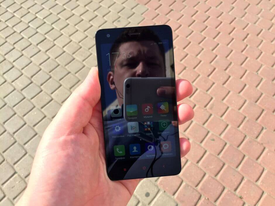 поведение экрана в Xiaomi Redmi 2 LTE Enhanced на солнце