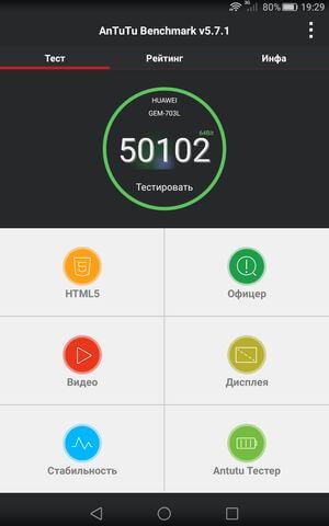 результат теста AnTuTu для Huawei Honor X2