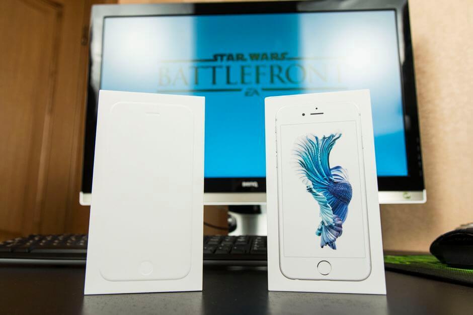 упаковка Apple iPhone 6s