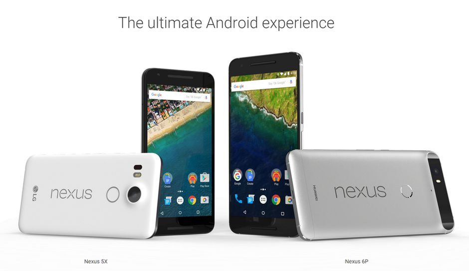 Huawei Nexus 6P и LG Nexus 5X