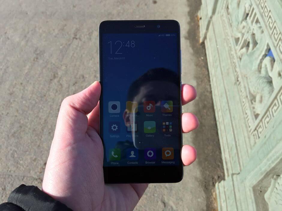 экран на солнце Xiaomi Redmi Note 3 Pro