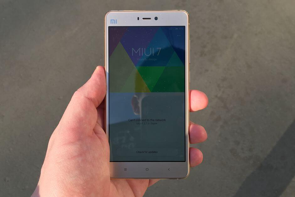 экран Xiaomi Mi4s не слепнет на солнце