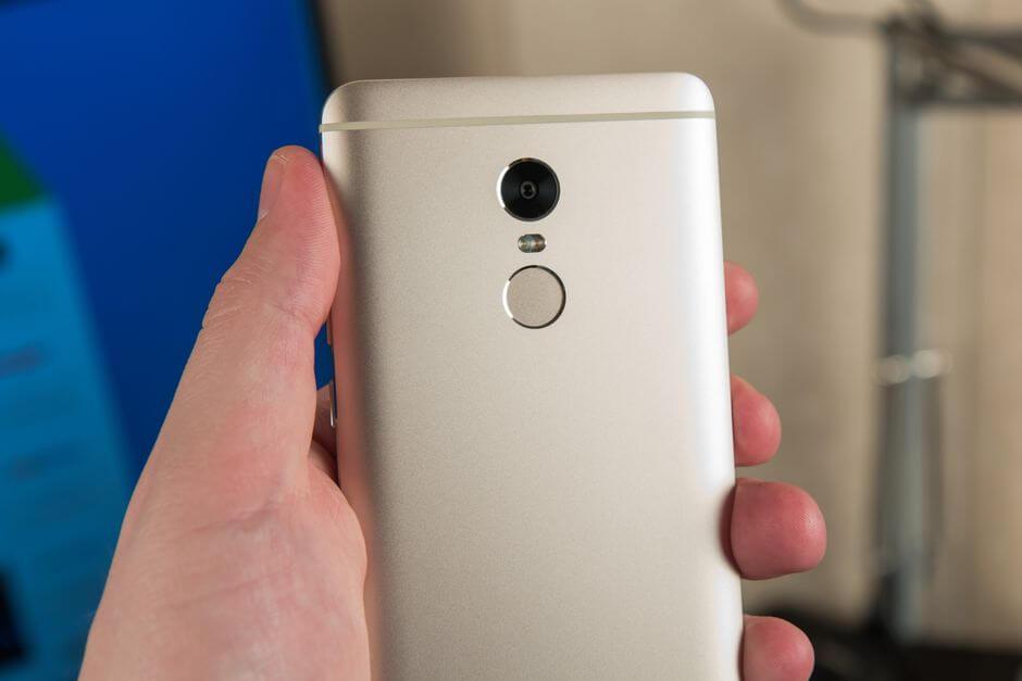 сканер отпечатков пальцев Xiaomi Redmi Note 4