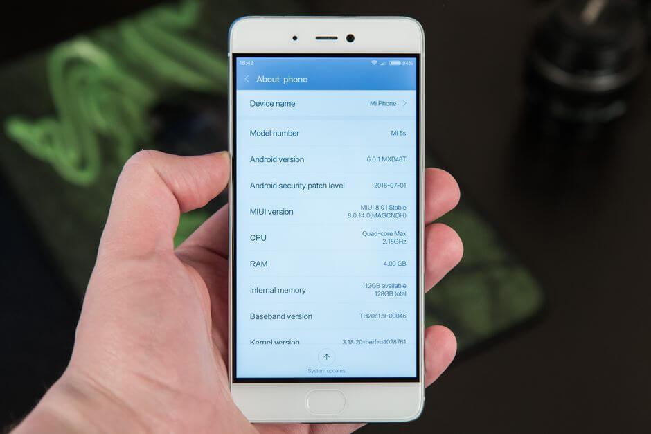 MIUI 8 в Xiaomi Mi 5s