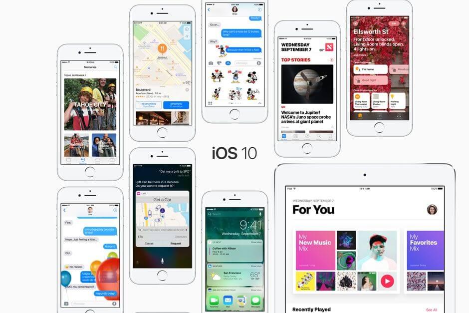 iOS 10 для Apple iPhone 7 Plus