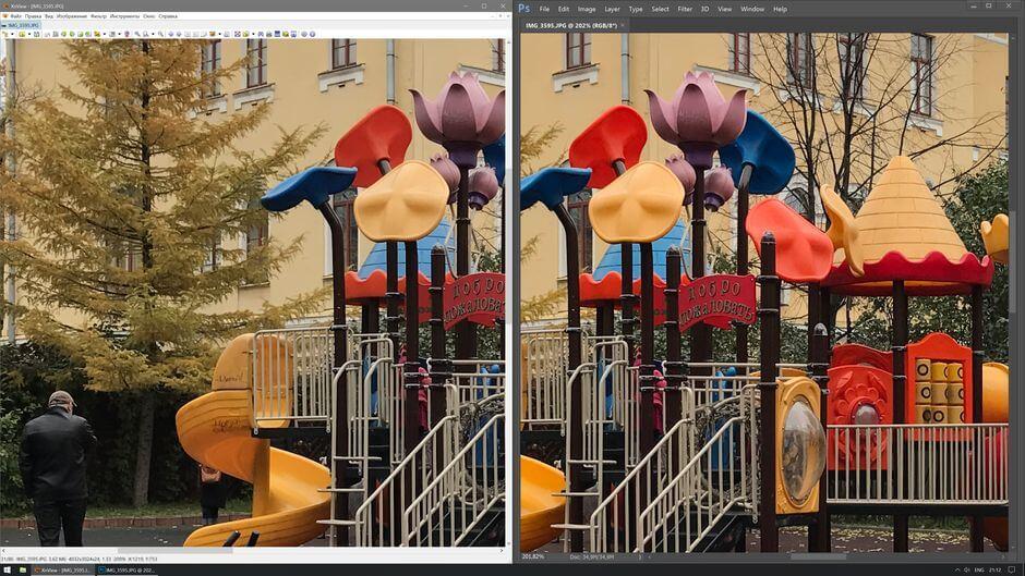 программы для просмотра фотографий неточно отображают цвета на фотографиях с Apple iPhone 7 Plus