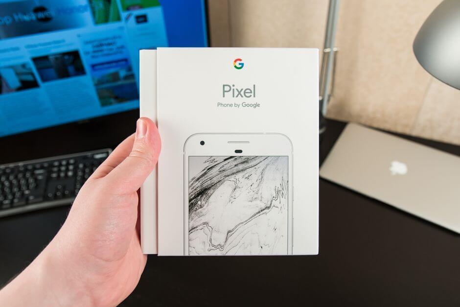 коробка Google Pixel