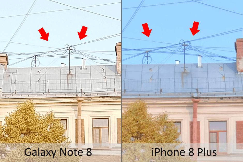 утрирование мелких деталей в камере Samsung Galaxy Note 8