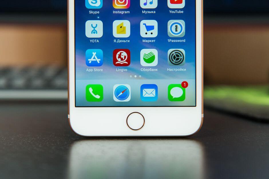 сканер отпечатков пальцев в Apple iPhone 8 Plus