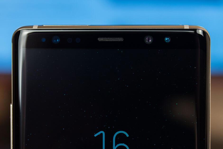 фронтальная камера в Samsung Galaxy Note 8