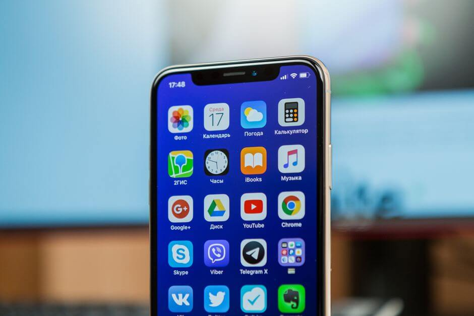 датчики Face ID в Apple iPhone X