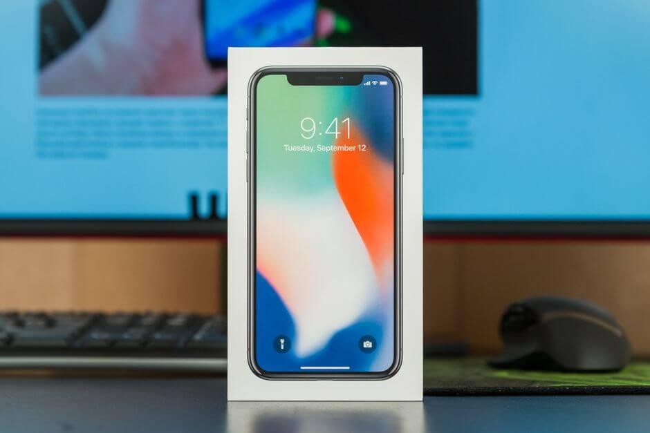 коробка от Apple iPhone X