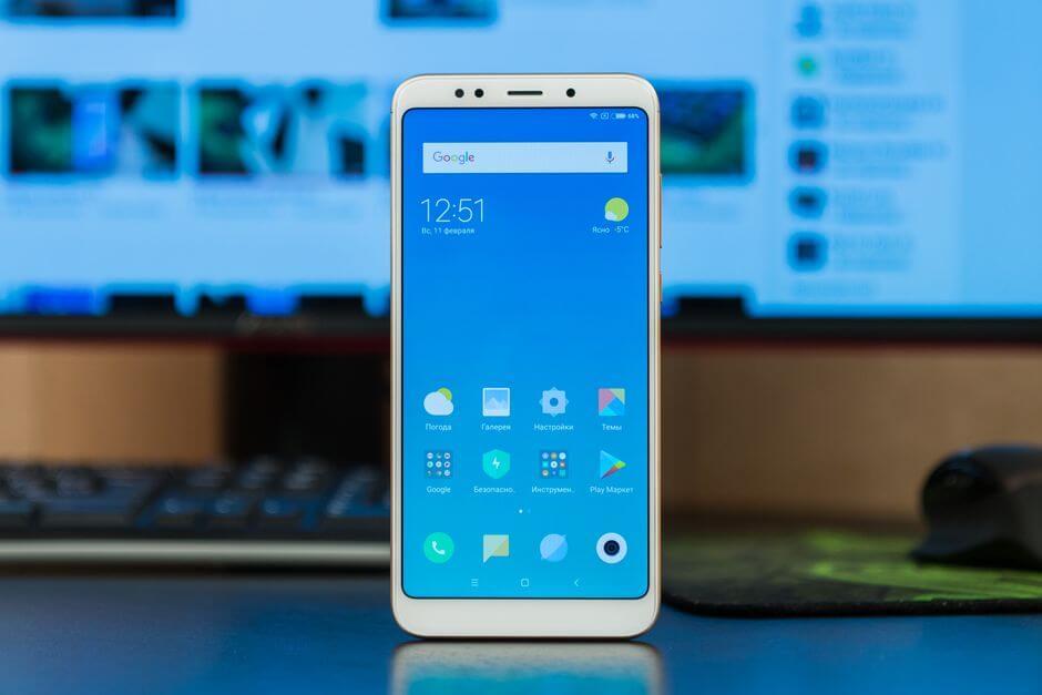 экран в Xiaomi Redmi 5 Plus с соотношением сторон 18:9